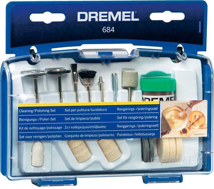 Набор насадок Dremel для чистки и полировки (20 шт) (684) (26150684JA)