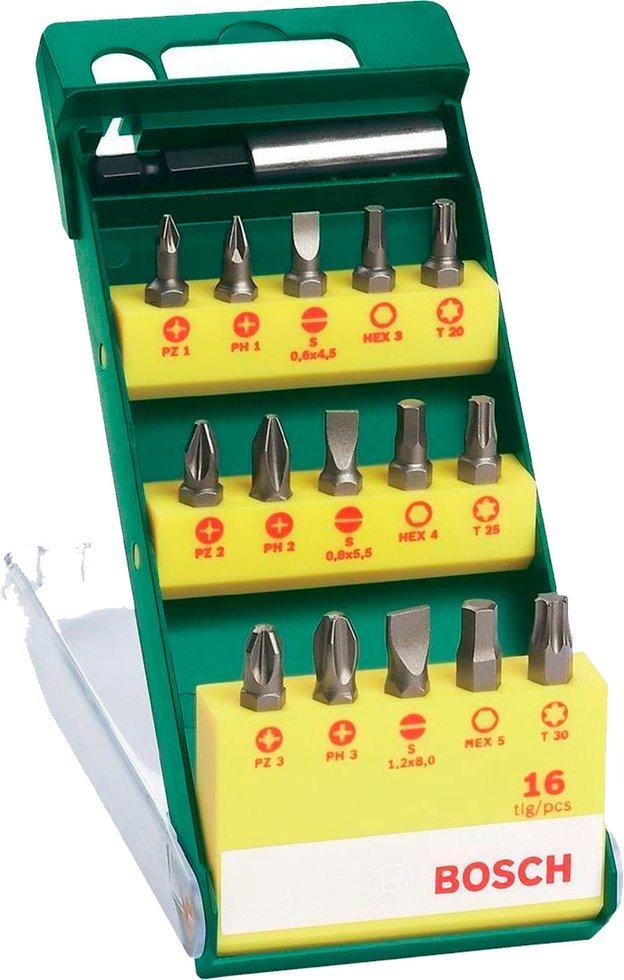 Набор насадок-бит Bosch, 15 шт + держатель (2607019453)