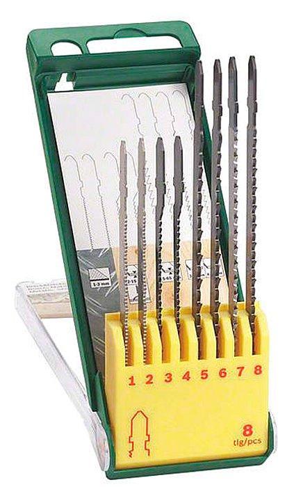 Набор пилок Bosch Robust Line для лобзика, 8 шт (2607019458)