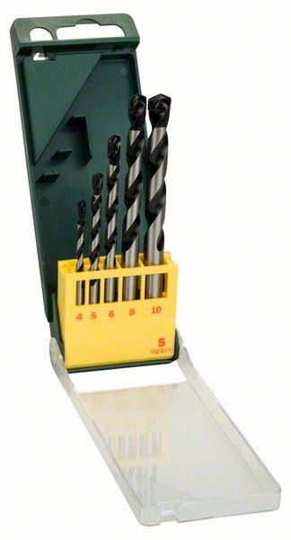 Набор сверл по бетону Bosch Promoline, 4,5,6,8,10 мм, 5 шт (2607019444)