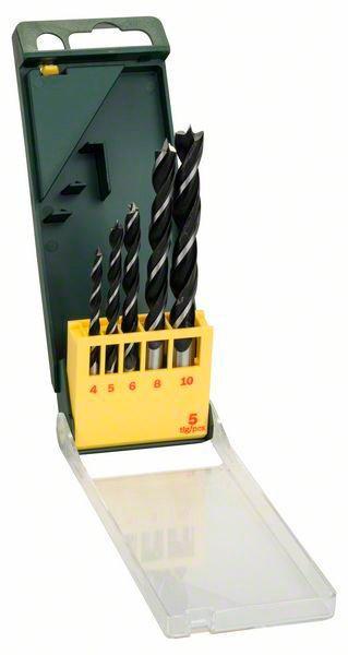 Набор сверл по дереву Bosch Promoline, 4,5,6,8,10 мм, 5 шт (2607019440)