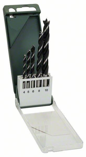 Набор сверл по древесине Bosch 4-10 мм, 5 шт (2609255214)