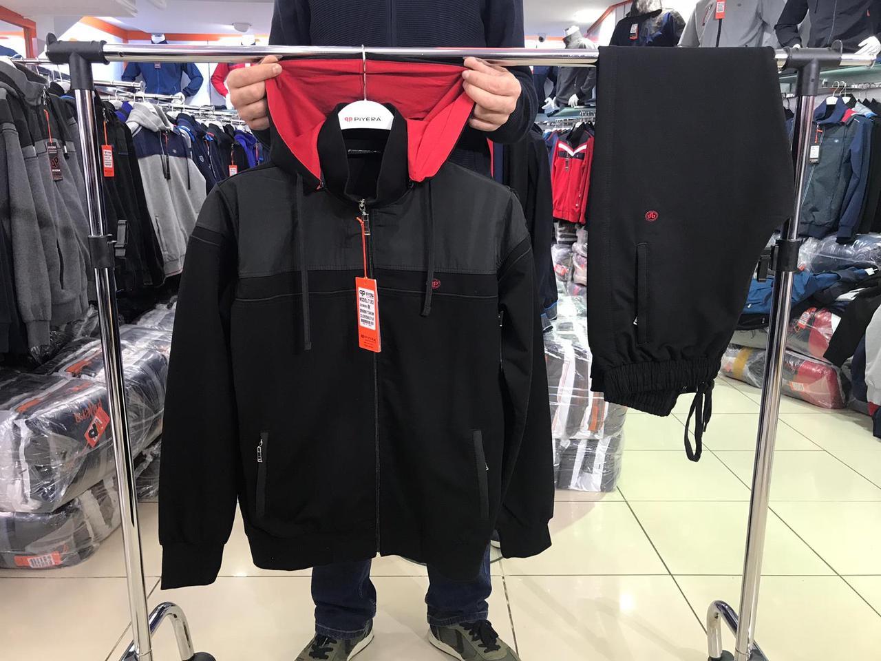 Мужской спортивный костюм с капюшоном пр-во Турция т.м. PIYERA 7382