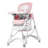 Стульчик для кормления розовый CARRELLO Caramel CRL-9501/3 Candy Pink 2019 деткам от 6 месяцев