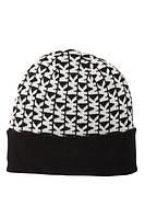 Женская стильная черная шапка  c лого популярного бренда Michael Kors