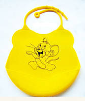 Силиконовый слюнявчик для детей Мышка