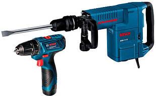 Відбійний молоток Bosch GSH 11 E + GSR 120-LI (061131670D)