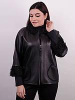 Куртка больших размеров на весну Нота черный , фото 1