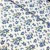 Ситец с голубыми цветочками на белом фоне, ширина 95 см