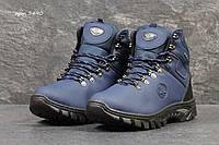 Мужские зимние ботинки Timberland синие 3490 (чоловічі черевики сині  тімберланд взуття зимове обувь зимовая) 1440929787460