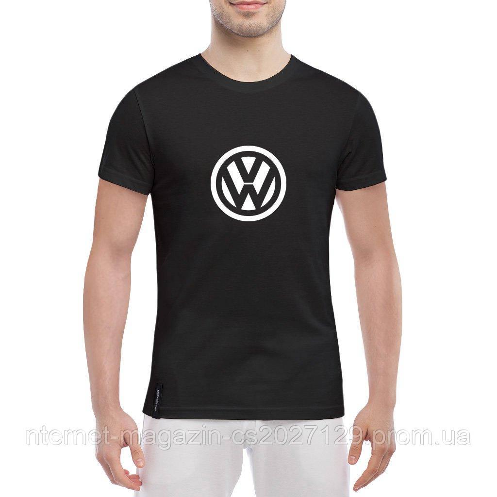 Футболка с печатью принта логотип Volkswagen