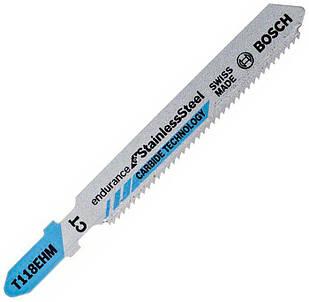 Пилка Bosch по нержавейке T 118 EHM, 1,483 мм, 3 шт (2608630665)