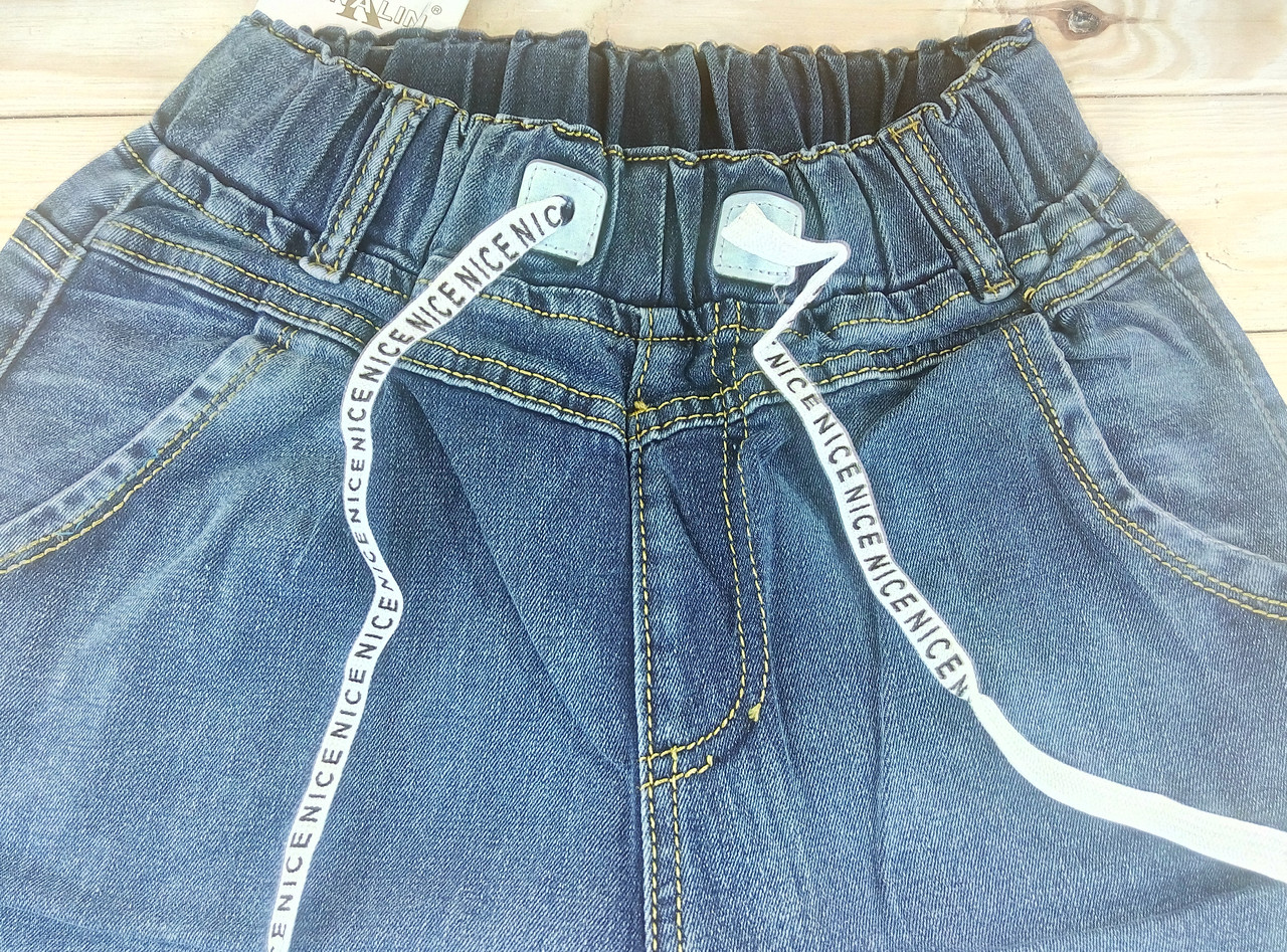 9d87b31dc9d Женские джинсы демисезон синие KENALIN на шнурке с карманами 3XL 32 ЛЖД -21169