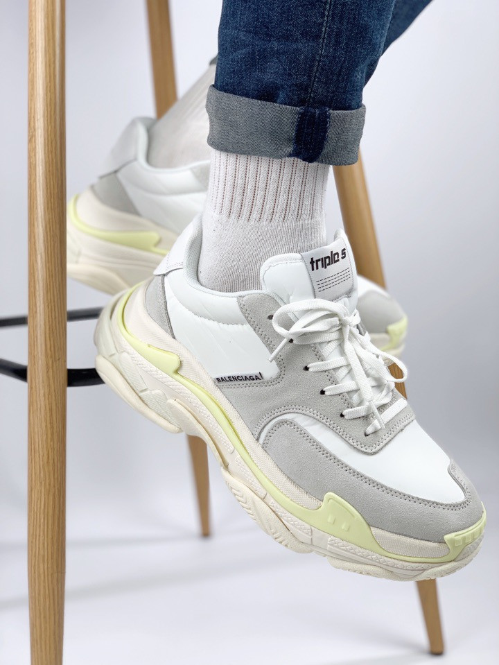 Мужские кроссовки Balenciaga Triple S 2.0 White yellow
