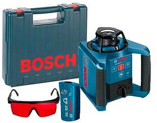 Ротаційний лазерний нівелір Bosch GRL 250 HV + пульт RC1 + окуляри + валіза (0601061600)