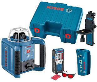 Ротаційний лазерний нівелір Bosch GRL 300 HV + тримач WM 4 + приймач LR1+ пульт RC1 + окуляри + валіза (0601061501)