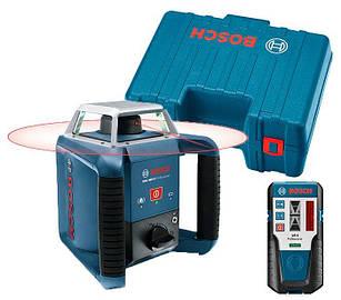 Ротаційний лазерний нівелір Bosch GRL 400 H + приймач LR 1 + валіза (0601061800)