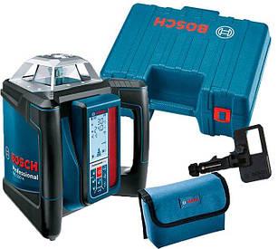 Ротаційний лазерний нівелір Bosch GRL 500 H + пульт LR 50 + чохол + тримач пульта + валіза (0601061A00)