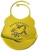 Силиконовый слюнявчик для детей Тигра
