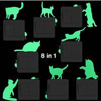 """Люминесцентная наклейка """"Кот с мышей"""" - 21*15см"""