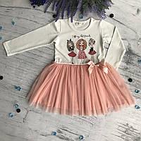 Платье на девочку Breeze 1/34. Размеры 98 см, 104 см, 110 см,116 см,128 см