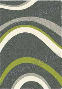 Ковер для дома Opal Cosy structure волна цвет серый с зеленым