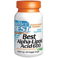 Doctor's Best, Альфа-липоевая кислота (Best Alpha-Lipoic Acid), 600 мг, 60 растительных капсул