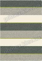 Ковер для дома Opal Cosy structure полосы цвет серый и бежевый с зеленым