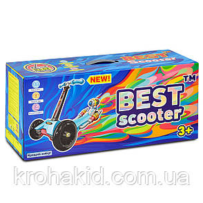 "Самокат А 24642 /779-1386 MAXI ""Best Scooter""  4 колеса PU. СВЕТ, d=12см, фото 2"