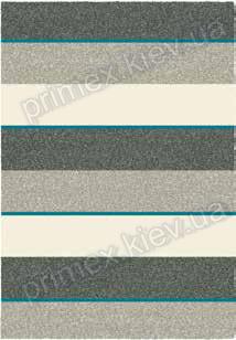 Килимок для будинку Opal Cosy structure смуги колір сірий і білий з синім