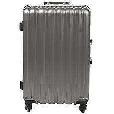 Чемодан  BagHouse малый 36х51х24 цвет тёмно-серебристий 4 колеса  кс325мтсер, фото 3