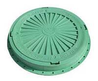 Люк смотровой  3т зеленый с замком