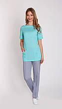 Женская медицинская батистовая куртка с карманами в большей цветовой гамме
