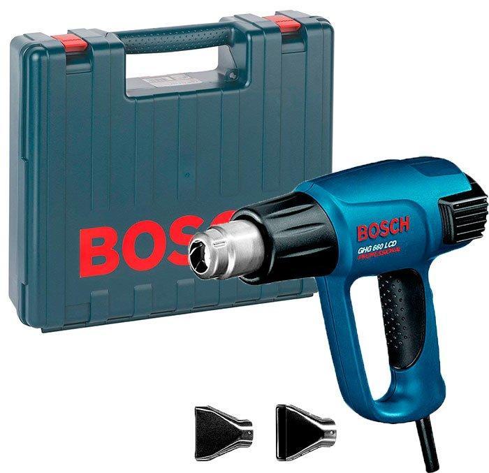 Технический фен Bosch Professional GHG 660 LCD + 2 насадки + чемодан (0601944703)