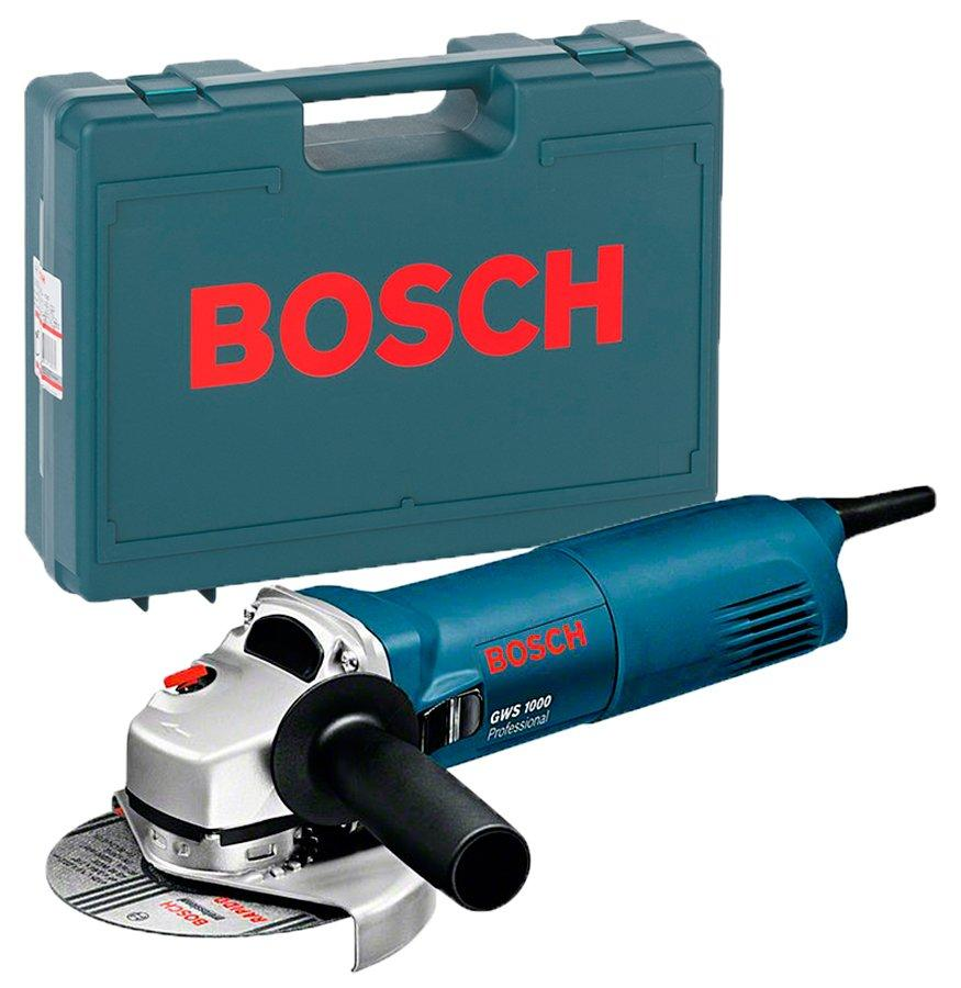Угловая шлифмашина Bosch Professional GWS 1000 + чемодан (0601828800C)