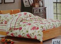 Сатиновое постельное белье полуторка ELWAY 4184