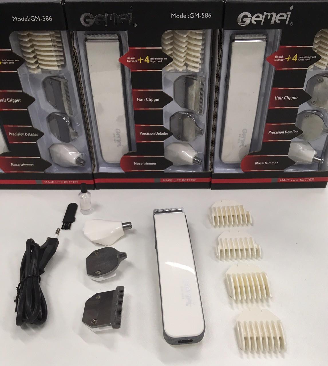 Машинка для стрижки волос+Бритва Триммер 4 in 1 GM-586 (60 шт/ящ)