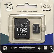 Карта памяти T&G micro SDHC 16 GB Class 10 +адаптер