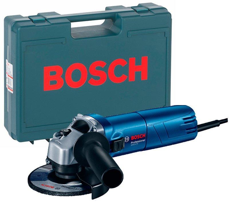 Угловая шлифмашина Bosch Professional GWS 670 + чемодан (0601375606C)
