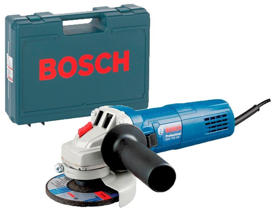 Угловая шлифмашина Bosch Professional GWS 750 S + чемодан (0601394121C)