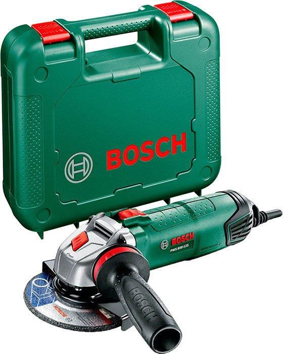 Угловая шлифмашина Bosch PWS 850-125 + чемодан (06033A2720)