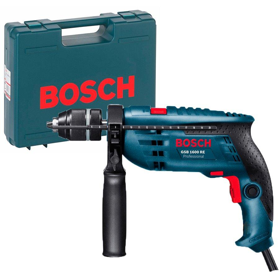 Ударная дрель Bosch Professional GSB 1600 RE + чемодан (060121812C)