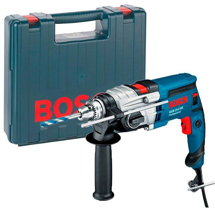 Ударная дрель Bosch Professional GSB 19-2 RE под ключ + чемодан (060117B600)