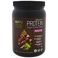 SoTru, Органический вегетарианский протеиновый коктейль, ванильный чай, 17,7 унций (504 г)
