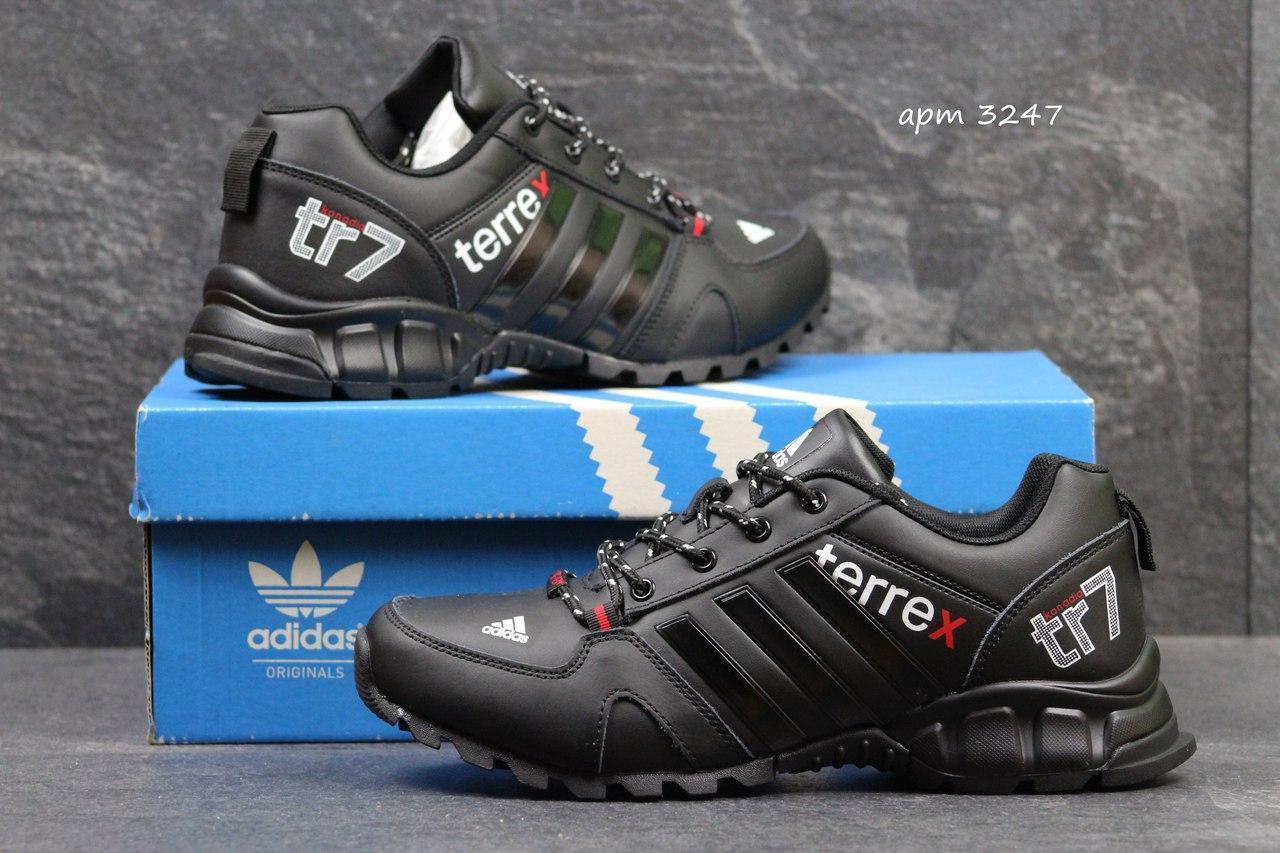 Мужские кроссовки Adidas TR7 черные 3247 (чоловічі кросовки адідас кроси  взуття спортивне обувь спортивная) d685d04ef7a53