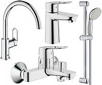 Набор смесителей для ванной S-size и кухни Grohe BauLoop 123225K