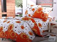 Сатиновое постельное белье полуторка ELWAY 3772
