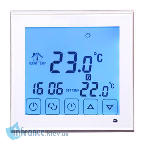 Терморегулятор программируемый для кабельного теплого пола Klimteh BHT-323GB White