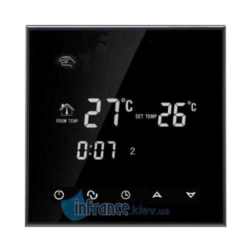 Терморегулятор программируемый для кабельного теплого пола Klimteh BHT-2000 (Black)