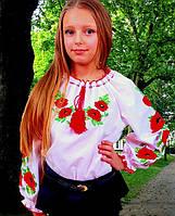 Вышиванка с маками для девочки, фото 1
